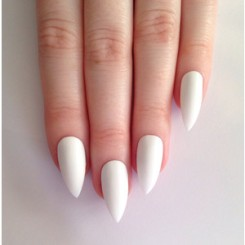 AAA kylie white matt nails